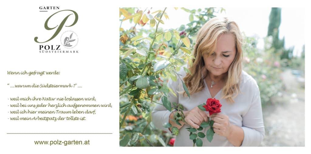 Renate Polz en Autriche Jardin Styrie Südsteiermark L'âme d'une mission