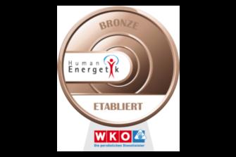 Ich habe das Siegel in Bronze für Humanenergetik erreicht
