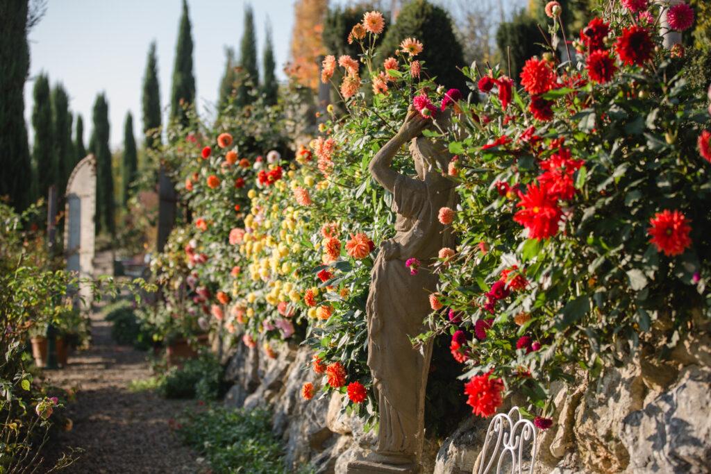 Traumgarten inmitten der Reben in der Südsteiermark. Romantische Trauungen mit Fotos. Gartenführungen und Beratungen.
